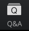 Screenshot of the Q&A button on the Whova web app